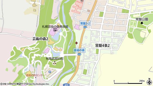 〒005-0854 北海道札幌市南区常盤四条の地図