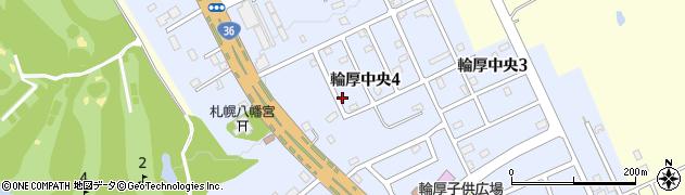 北海道北広島市輪厚中央周辺の地図
