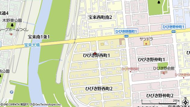 〒080-0163 北海道河東郡音更町ひびき野西町の地図