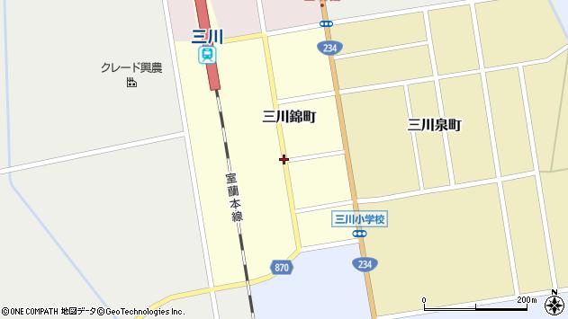 〒069-1132 北海道夕張郡由仁町三川錦町の地図