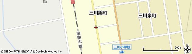 北海道由仁町(夕張郡)三川錦町周辺の地図