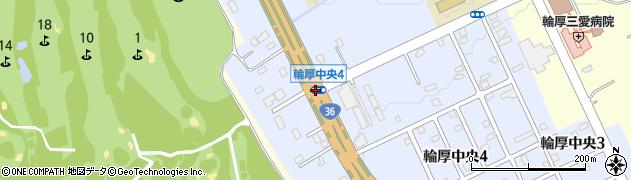 輪厚中央4周辺の地図