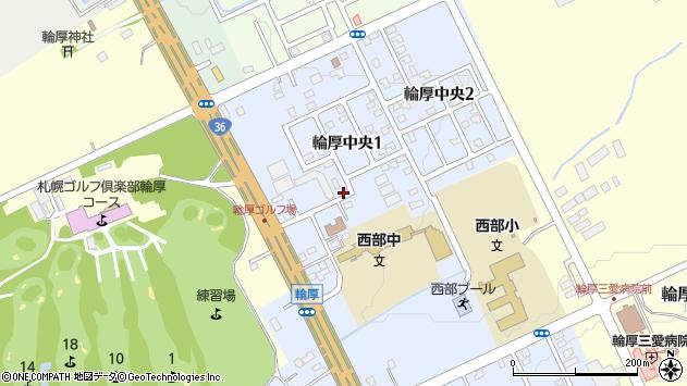 〒061-1268 北海道北広島市輪厚中央の地図