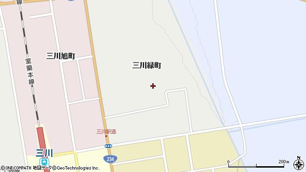 〒069-1134 北海道夕張郡由仁町三川緑町の地図
