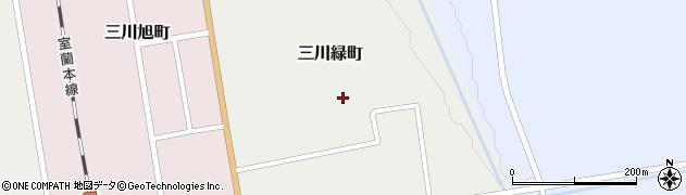 北海道由仁町(夕張郡)三川緑町周辺の地図