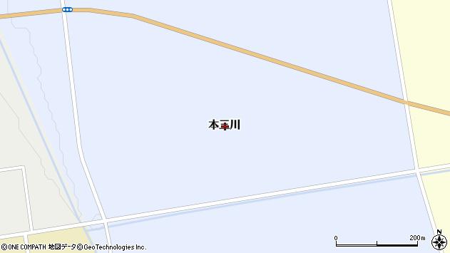 〒069-1144 北海道夕張郡由仁町本三川(その他)の地図