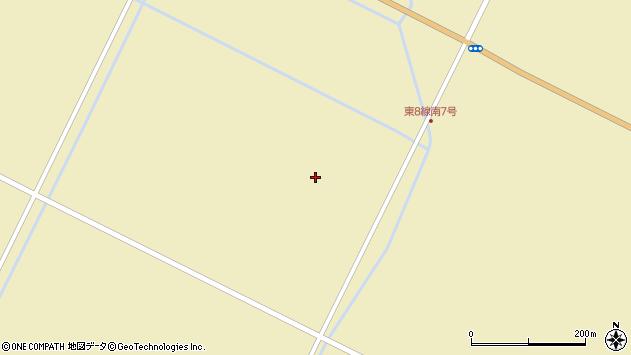 〒069-1458 北海道夕張郡長沼町東8線南の地図
