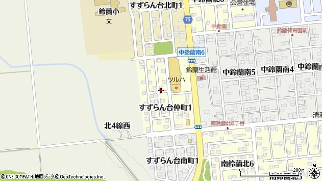 〒080-0362 北海道河東郡音更町すずらん台仲町の地図