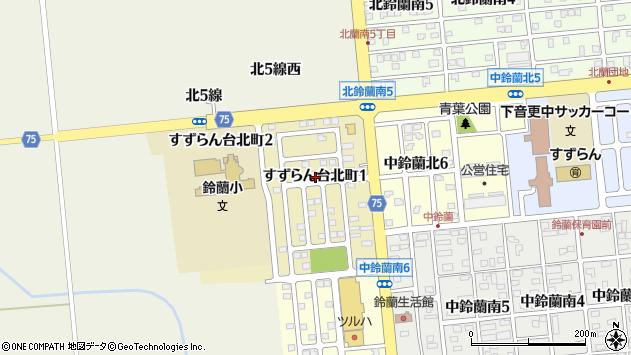 〒080-0361 北海道河東郡音更町すずらん台北町の地図