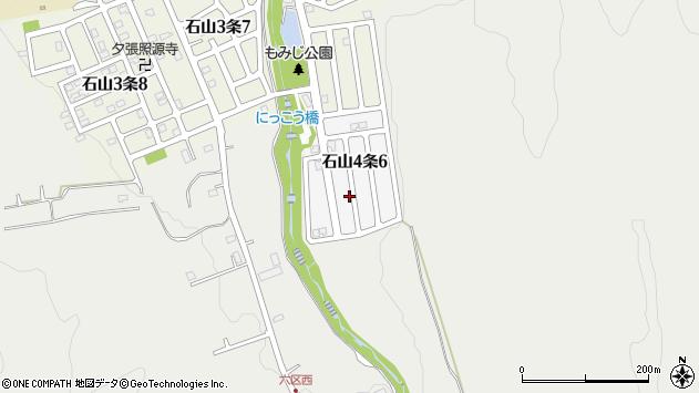 〒005-0844 北海道札幌市南区石山四条の地図