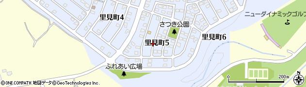 北海道北広島市里見町周辺の地図