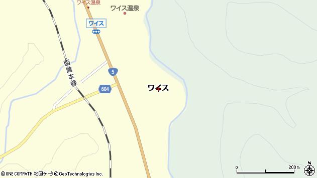 〒048-2141 北海道岩内郡共和町ワイスの地図