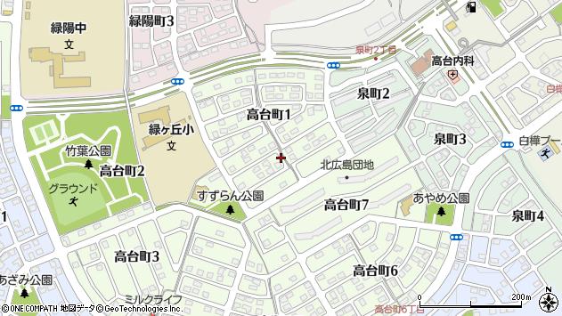 〒061-1146 北海道北広島市高台町の地図