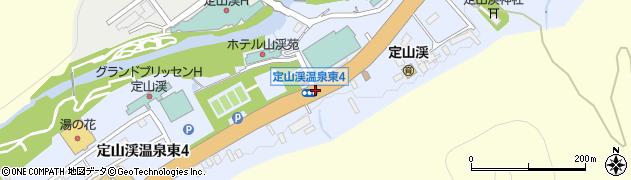 定山渓温泉東3周辺の地図
