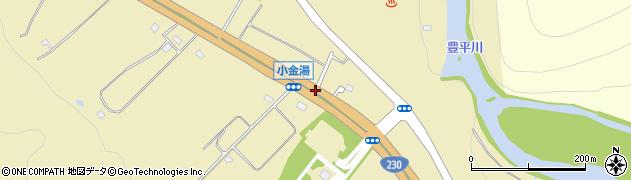 小金湯周辺の地図
