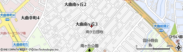 北海道北広島市大曲南ヶ丘周辺の地図