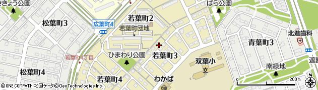 北海道北広島市若葉町周辺の地図