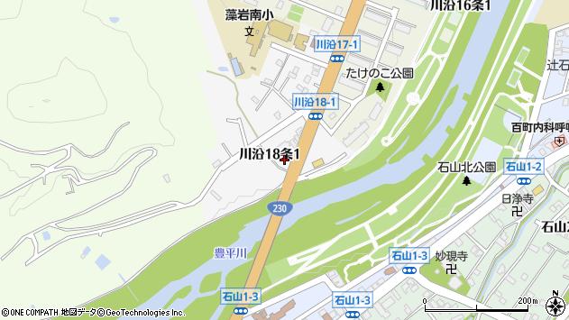 〒005-0818 北海道札幌市南区川沿十八条の地図