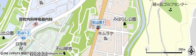 石山周辺の地図