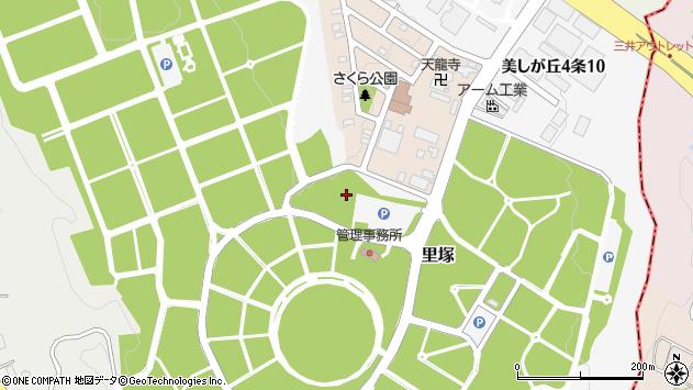 〒004-0809 北海道札幌市清田区里塚の地図