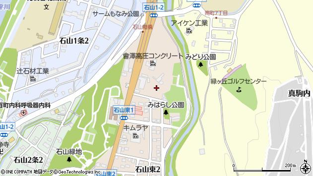 〒005-0850 北海道札幌市南区石山東の地図