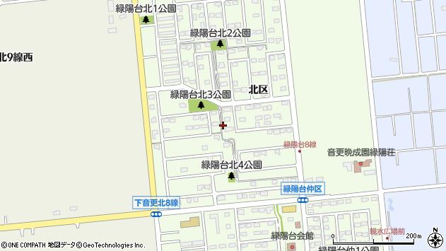 〒080-0316 北海道河東郡音更町緑陽台北区の地図