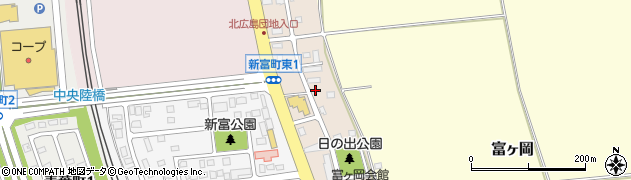 北海道北広島市新富町東周辺の地図