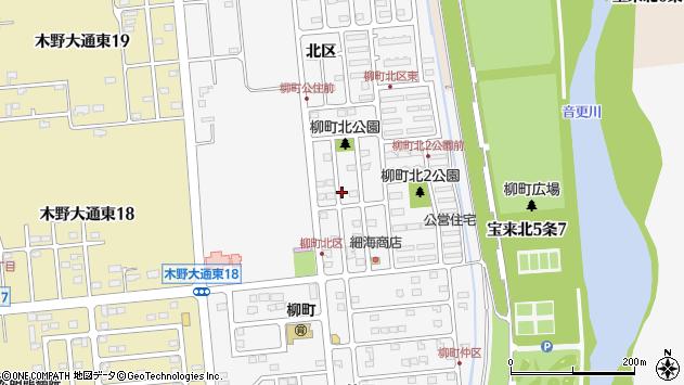 〒080-0121 北海道河東郡音更町柳町北区の地図