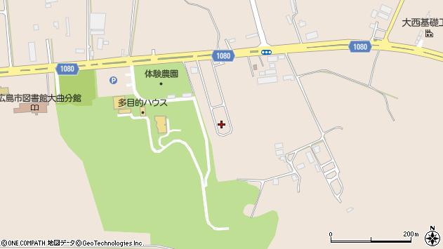 〒061-1270 北海道北広島市大曲の地図
