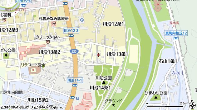 〒005-0813 北海道札幌市南区川沿十三条の地図