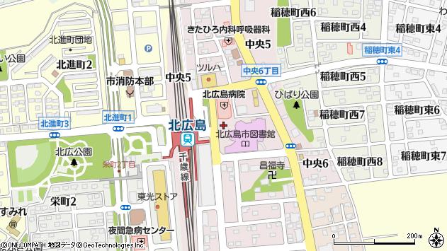 〒061-1122 北海道北広島市広島の地図