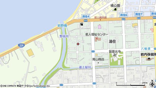〒045-0022 北海道岩内郡岩内町清住の地図