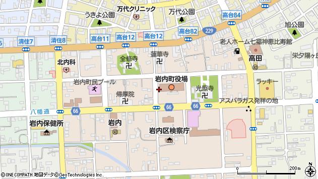 〒045-0013 北海道岩内郡岩内町高台の地図