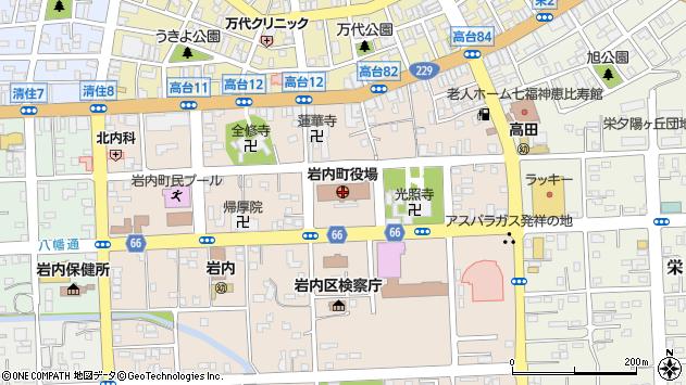 〒045-0000 北海道岩内郡岩内町(以下に掲載がない場合)の地図