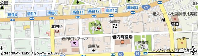 全修寺周辺の地図