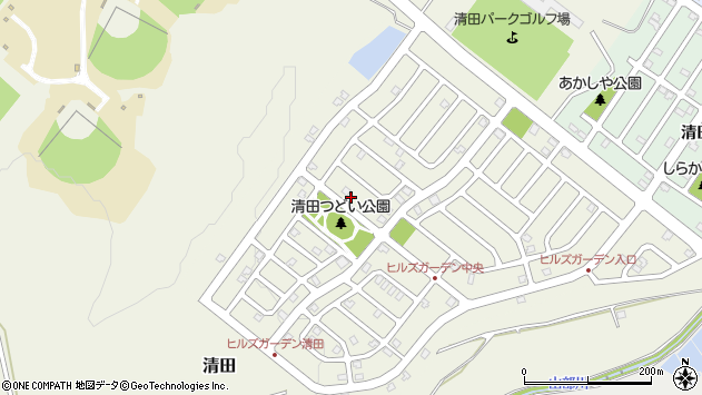 〒004-0840 北海道札幌市清田区清田十条の地図