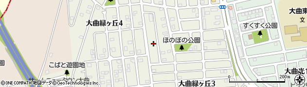 北海道北広島市大曲緑ヶ丘周辺の地図