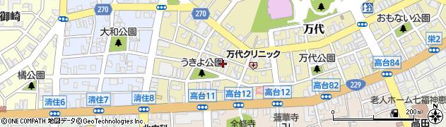 北海道岩内郡岩内町万代周辺の地図