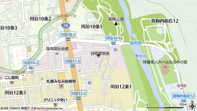 〒005-0811 北海道札幌市南区川沿十一条の地図