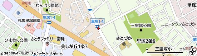 里塚1‐4周辺の地図