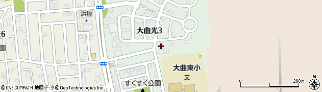 北海道北広島市大曲光周辺の地図