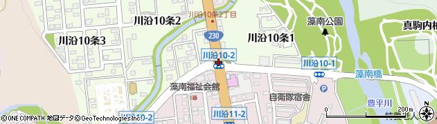 川沿10‐2周辺の地図