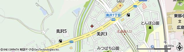 北海道北広島市美沢周辺の地図
