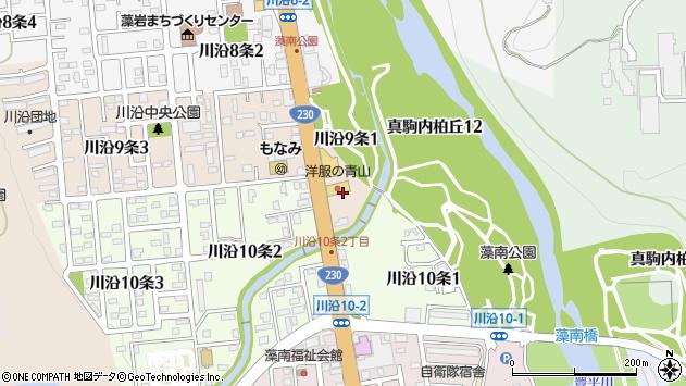 〒005-0809 北海道札幌市南区川沿九条の地図