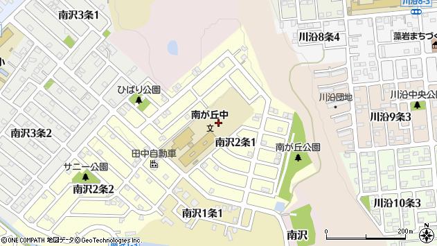 〒005-0822 北海道札幌市南区南沢二条の地図