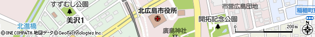 北海道北広島市周辺の地図