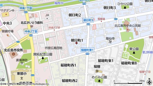 〒061-1123 北海道北広島市朝日町の地図