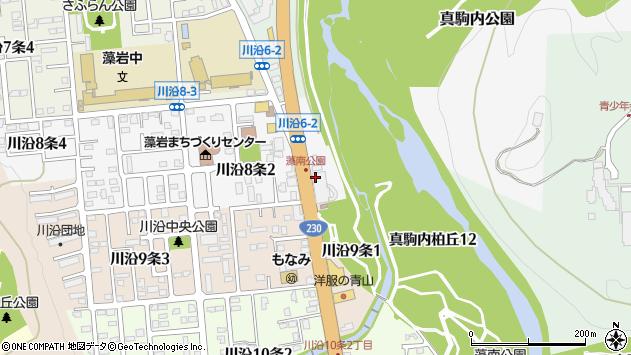 〒005-0808 北海道札幌市南区川沿八条の地図