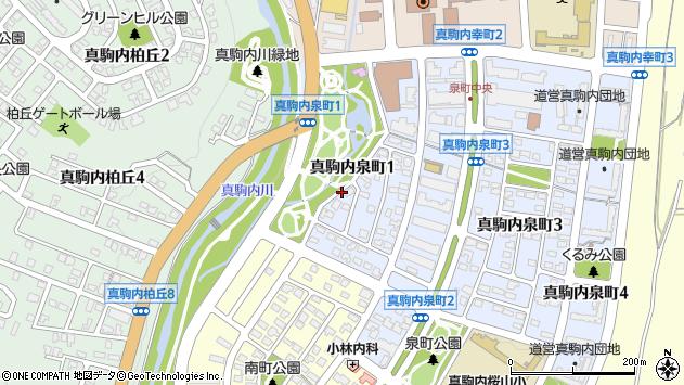 〒005-0015 北海道札幌市南区真駒内泉町の地図
