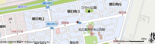 北海道北広島市朝日町周辺の地図